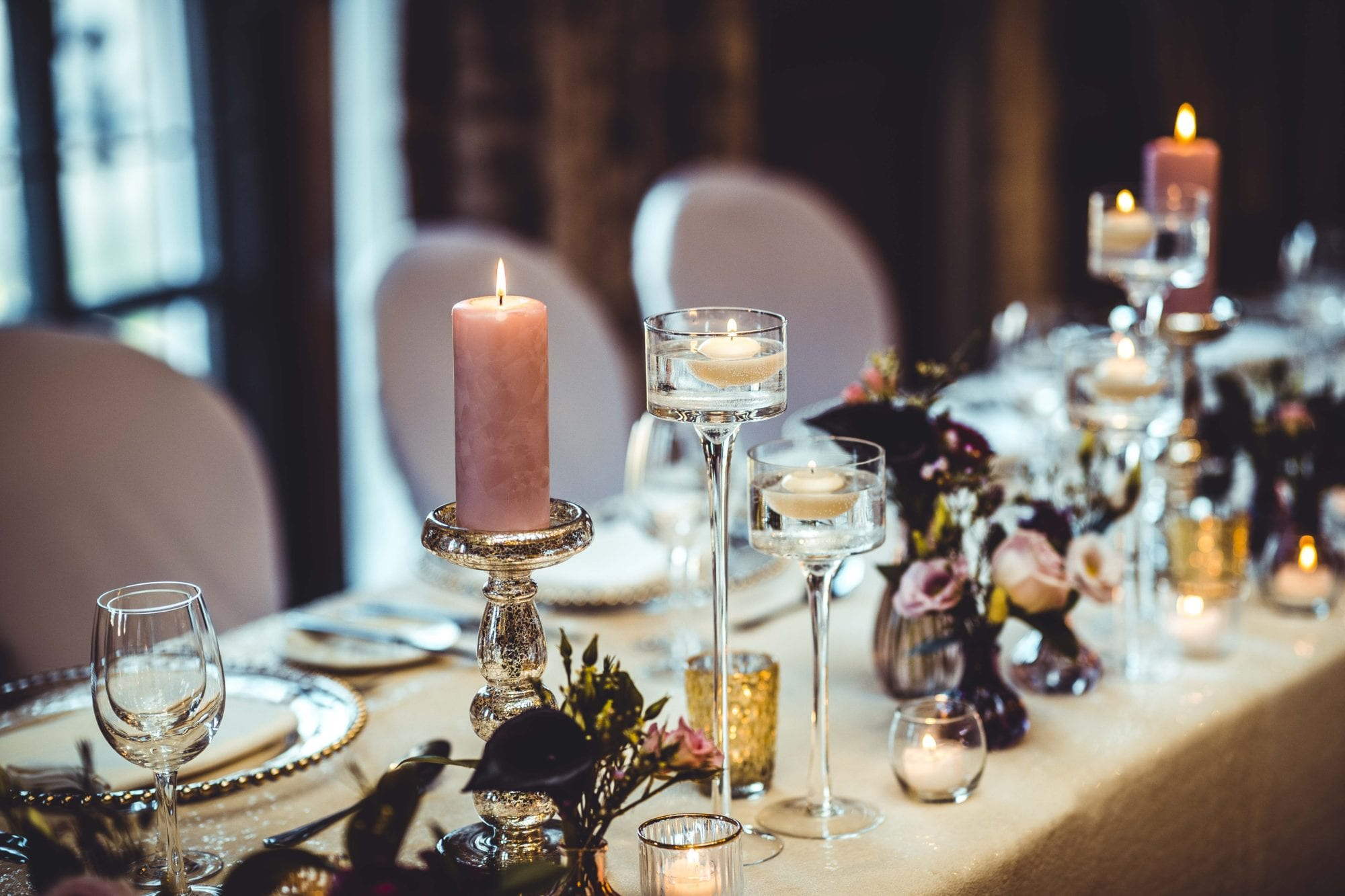 The Grand Wedding Head Table Candle