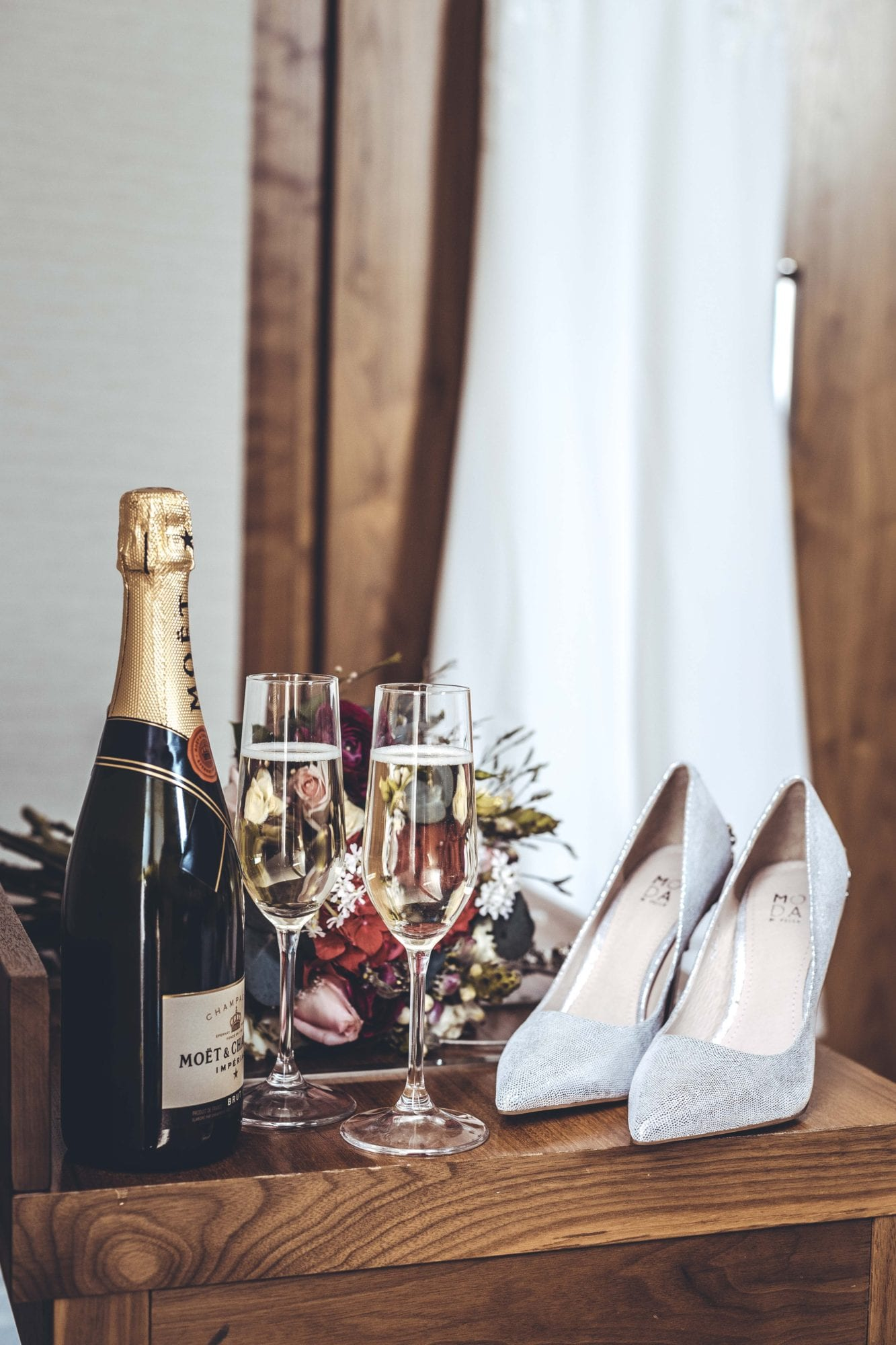 The Grand Wedding Shoes & Champagne