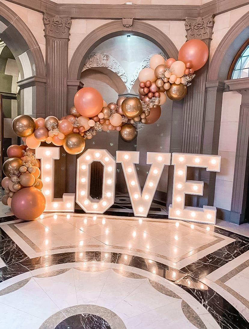 LOVE Lobby Lights