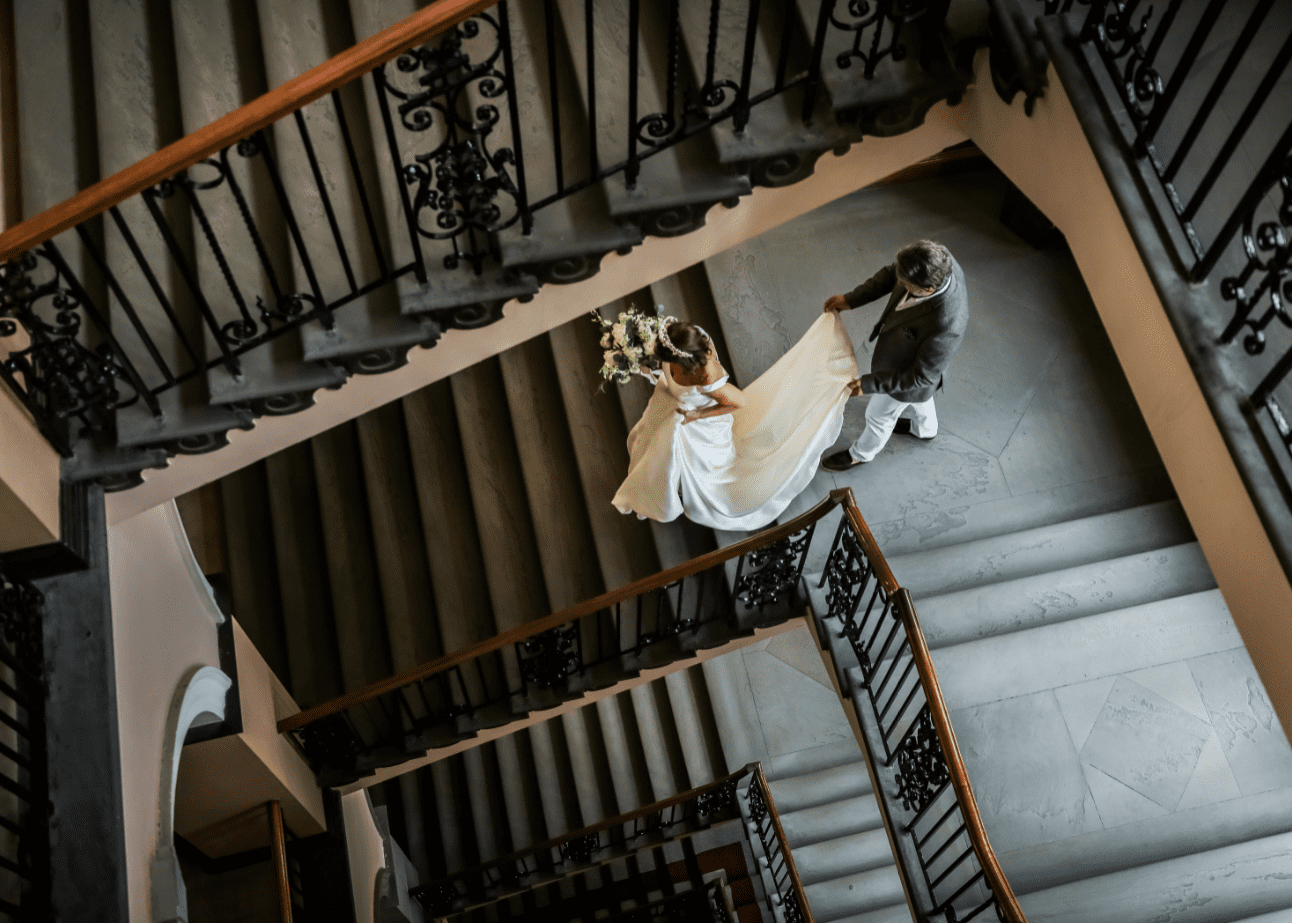 Staircase Wedding