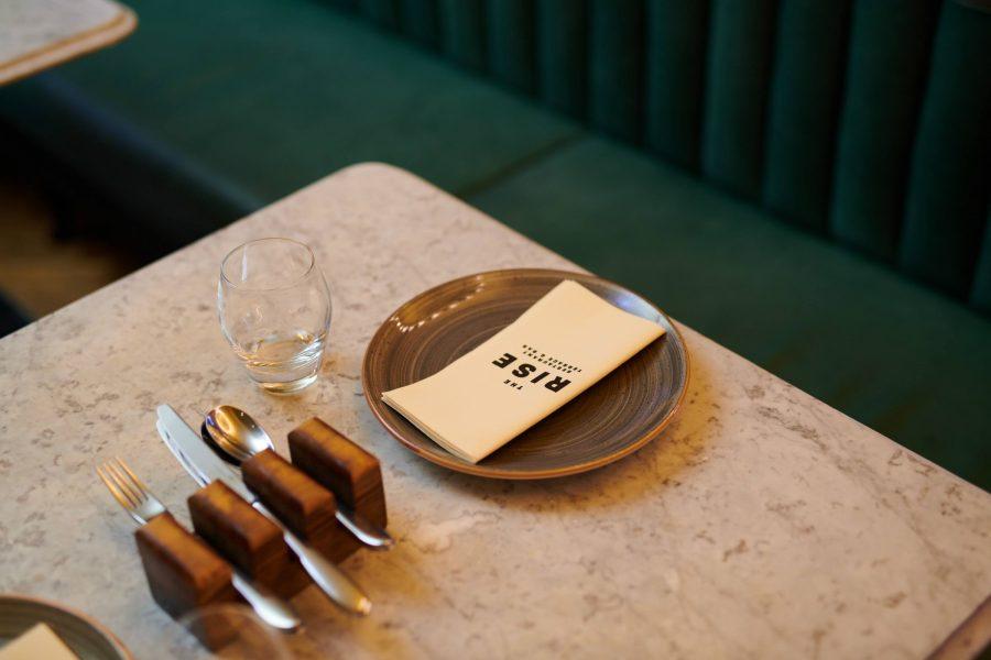 The Grand Rise Restaurant Table Shot